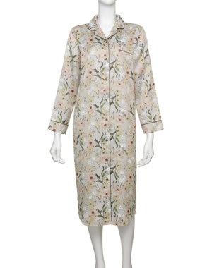 Chut! INTIMATES 【パジャマ・ルームウェア】 コットンサテン パジャマ ドレス [BMコラボ] (C282) グレー系プリント
