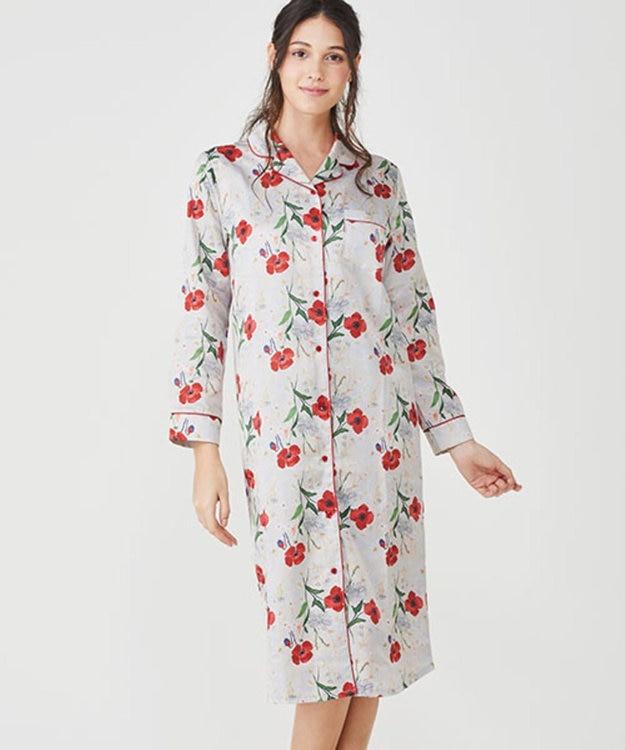 Chut! INTIMATES 【パジャマ・ルームウェア】 コットンサテン パジャマ ドレス [BMコラボ] (C282)
