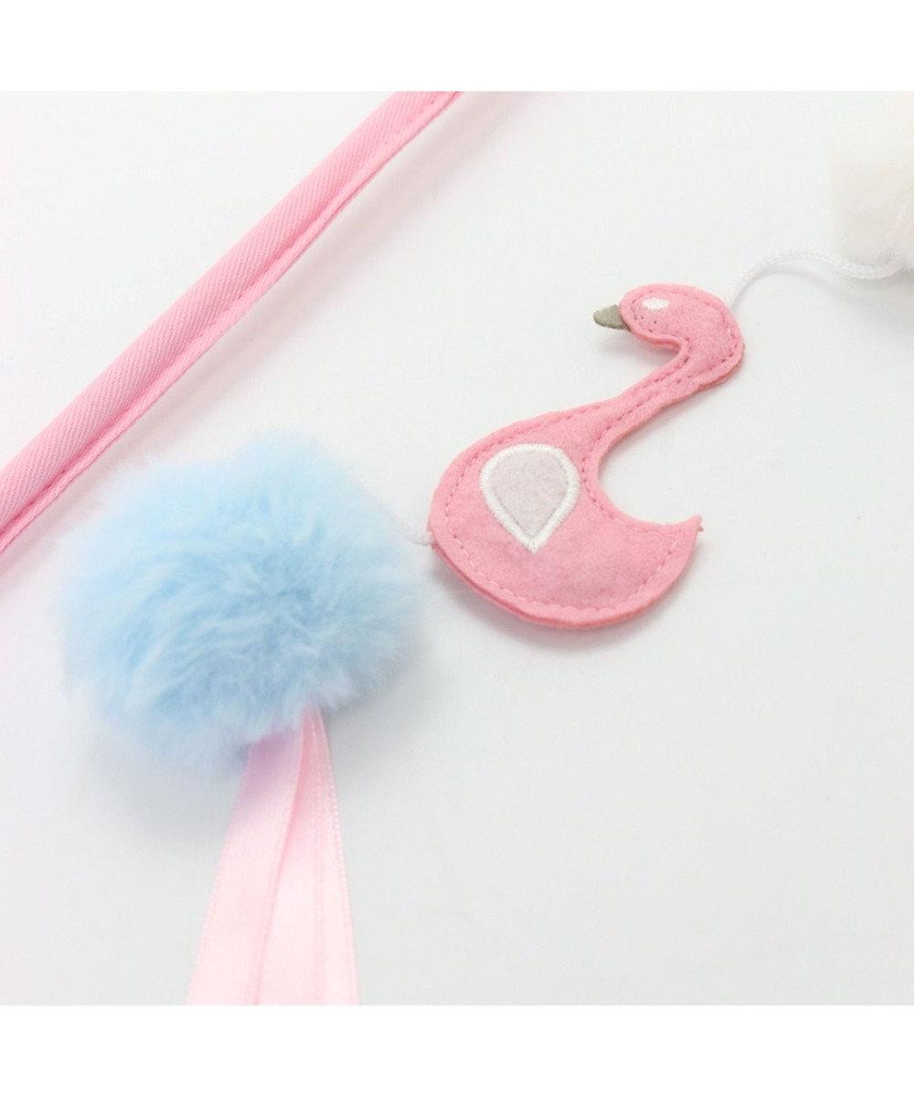 PET PARADISE ネコネスト 猫用おもちゃ 猫じゃらし フラミンゴ ピンク(淡)