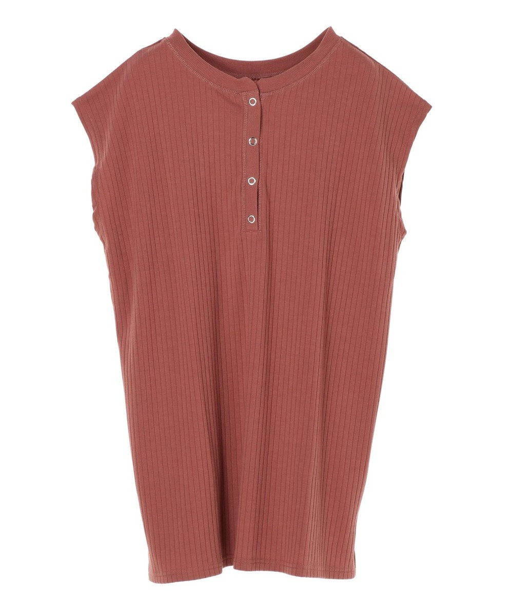 Green Parks ・Ray Cassin 2wayヘンリーネックTシャツ Dark Pink