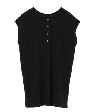 Green Parks ・Ray Cassin 2wayヘンリーネックTシャツ Black