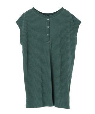 Green Parks ・Ray Cassin 2wayヘンリーネックTシャツ Green