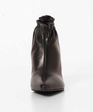 GRACE CONTINENTAL ギャザーショートブーツ ブラック