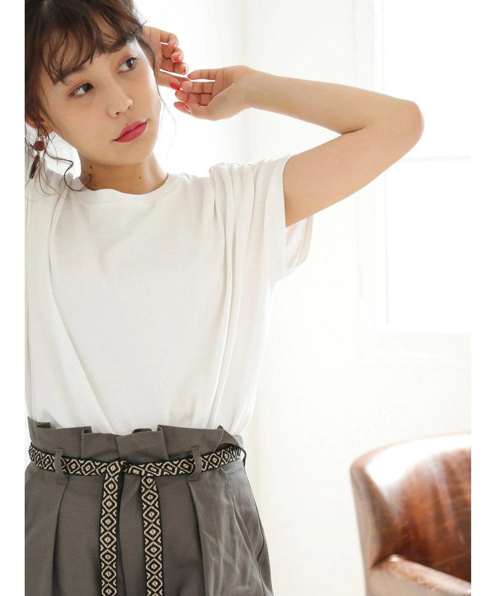 Green Parks ・SUGAR SPOON ショルダータックワイドTシャツ Off White