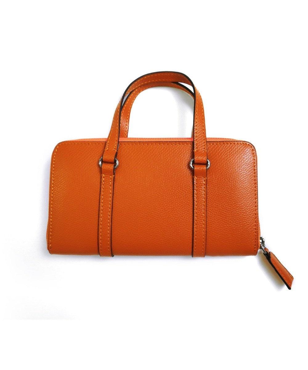 Tiaclasse 【本革】持ち手付き財布 オレンジ