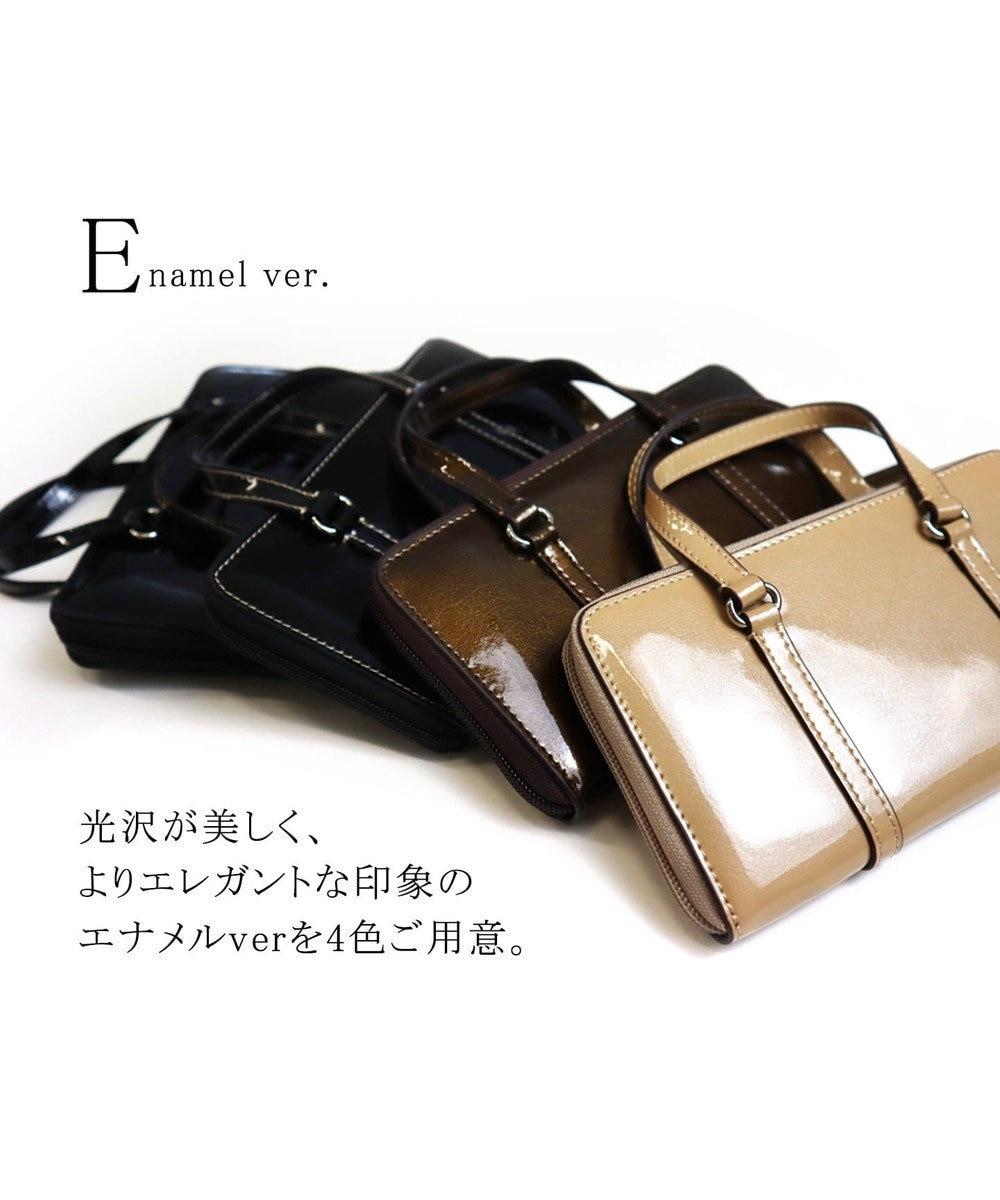 Tiaclasse 【本革】持ち手付き財布 イエロー