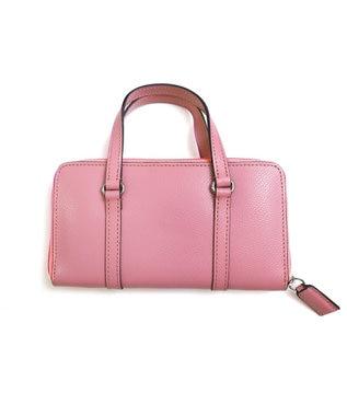Tiaclasse 【本革】持ち手付き財布 ピンク