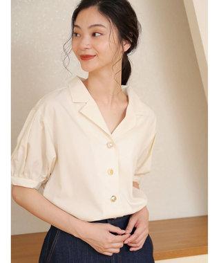 Green Parks ELENCARE DUE 5分袖 カイキンシャツ Off White