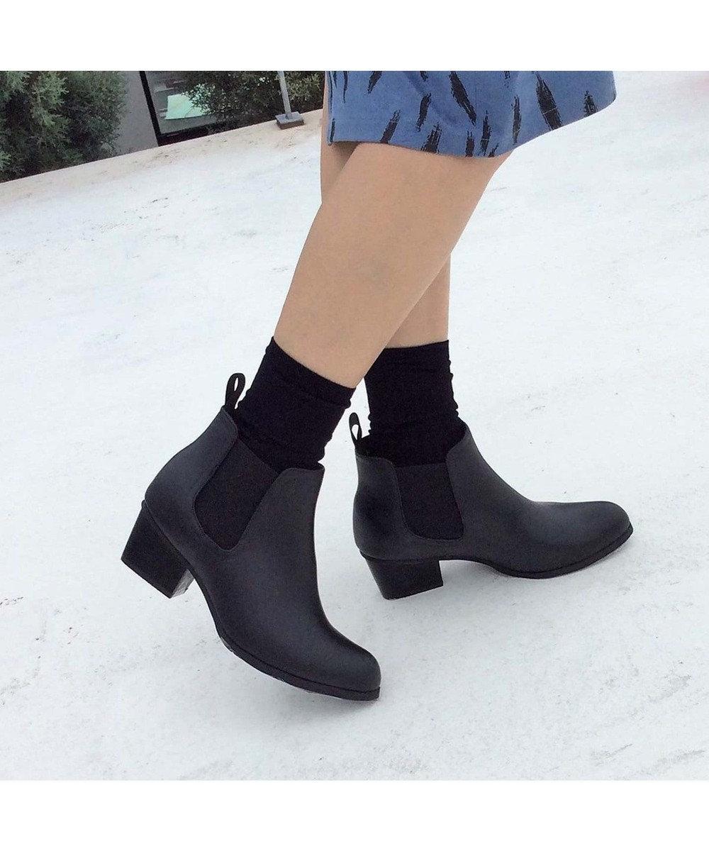 ing <Pitti>【WEB限定商品】サイドゴアレインショートブーツ ブラック