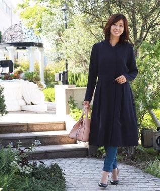 Tiaclasse 【洗える】上品フーテッドドレスコート ブラック