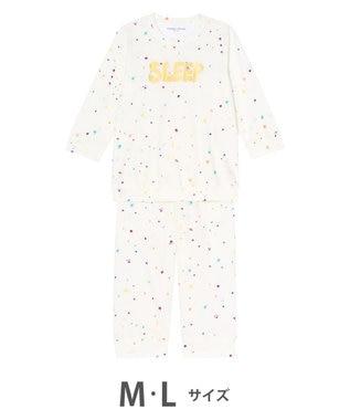 tsumori chisato SLEEP パジャマ 8分袖8分丈パンツ スタードット柄 /ワコール UDQ116 アイボリー