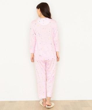tsumori chisato SLEEP パジャマ 8分袖8分丈パンツ スタードット柄 /ワコール UDQ116 ピンク