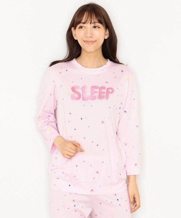 tsumori chisato SLEEP パジャマ 8分袖8分丈パンツ スタードット柄 /ワコール UDQ116