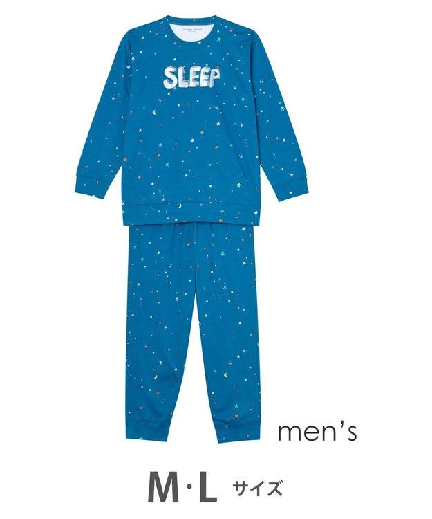 tsumori chisato SLEEP メンズパジャマ ロング袖ロングパンツ スタードット柄 /ワコール UGQ102