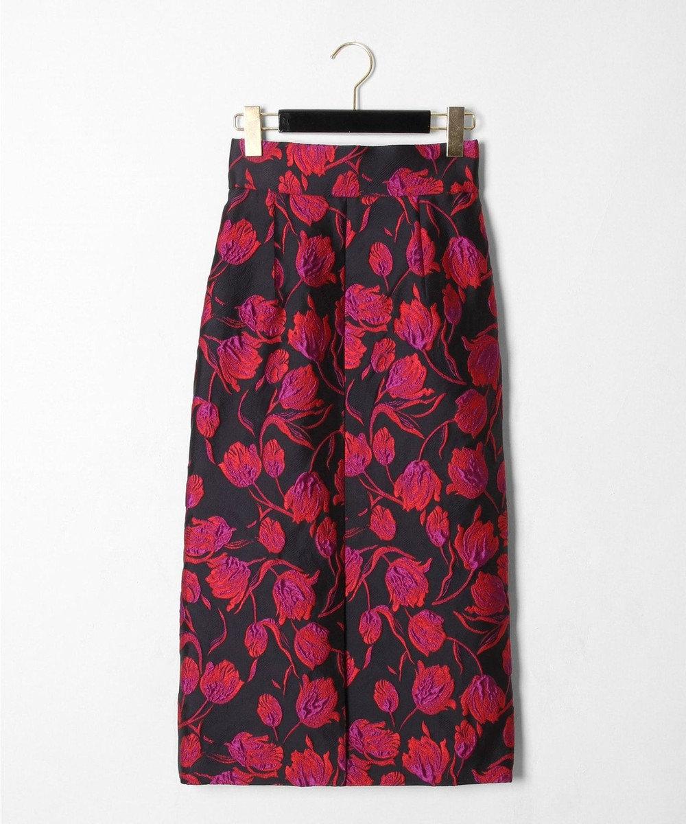 GRACE CONTINENTAL チューリップジャガードスカート ブラック