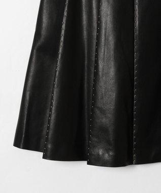 GRACE CONTINENTAL スタッズプリーツスカート ブラック