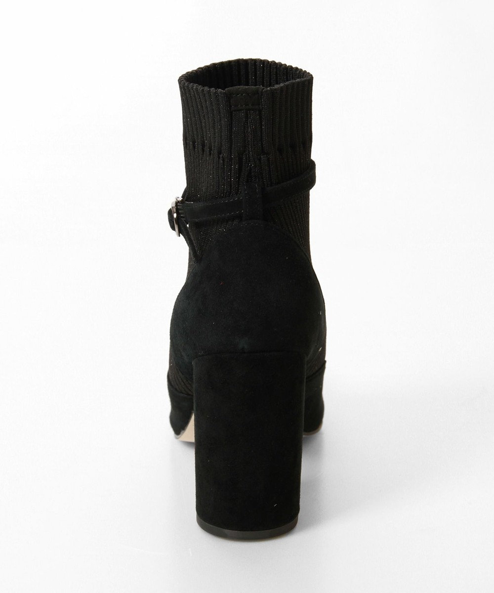 GRACE CONTINENTAL Tストラップソックスブーツ ブラック