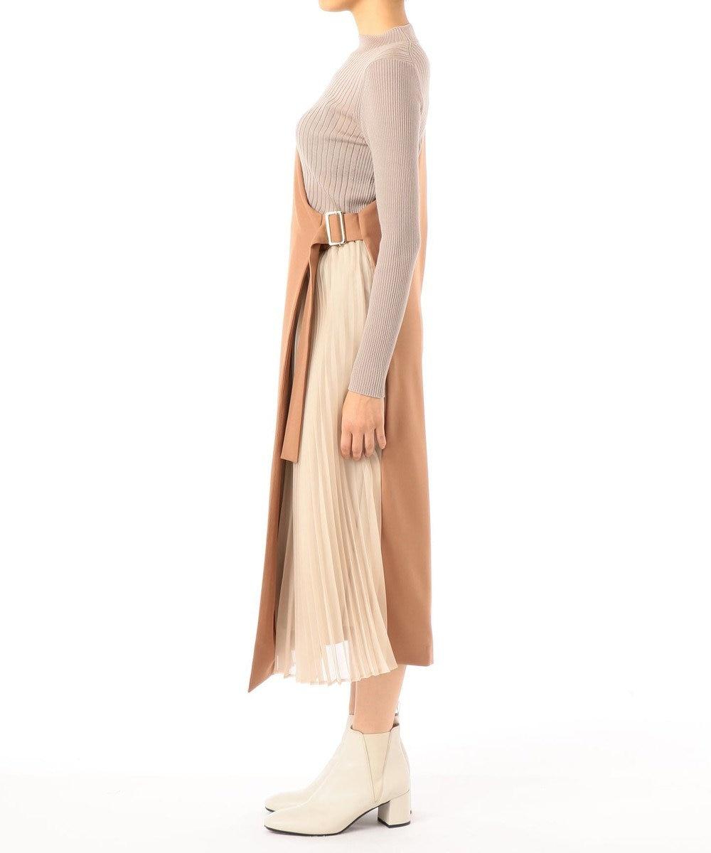 GRACE CONTINENTAL サイドプリーツジャンパースカート キャメル