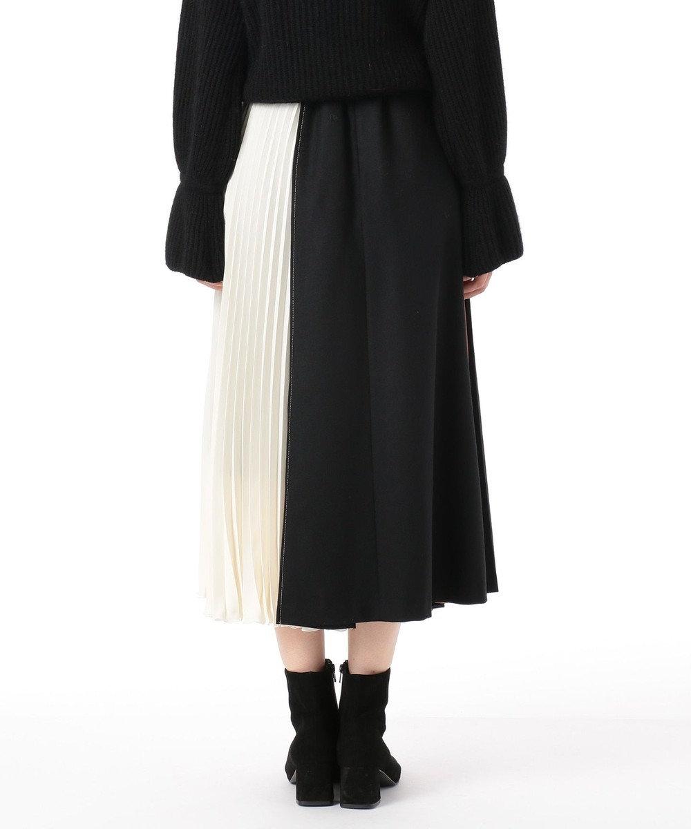 GRACE CONTINENTAL 配色マチプリーツスカート ブラック
