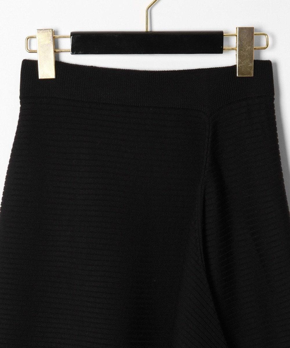 GRACE CONTINENTAL ウールアシメニットスカート ブラック