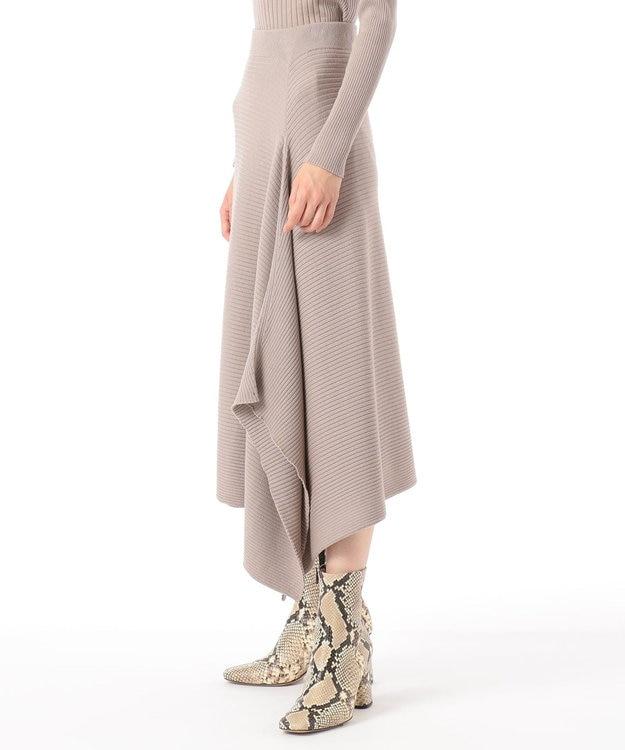 GRACE CONTINENTAL ウールアシメニットスカート