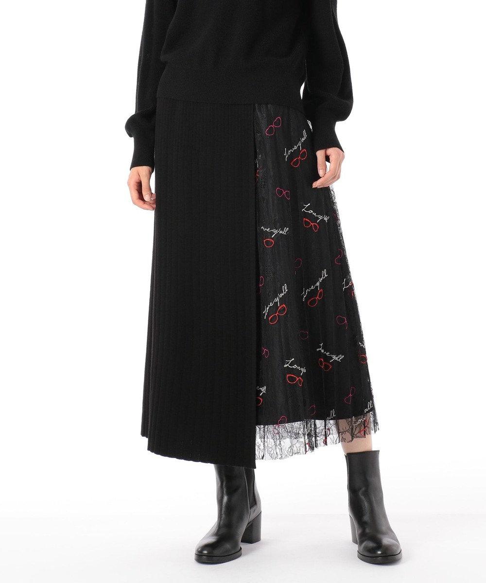 GRACE CONTINENTAL サングラスレースニットスカート ブラック