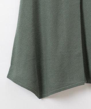 GRACE CONTINENTAL 圧縮ウールニットスカート グリーン