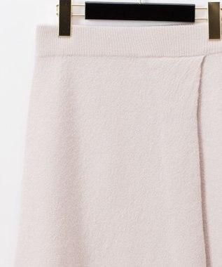 GRACE CONTINENTAL 圧縮ウールニットスカート ホワイト