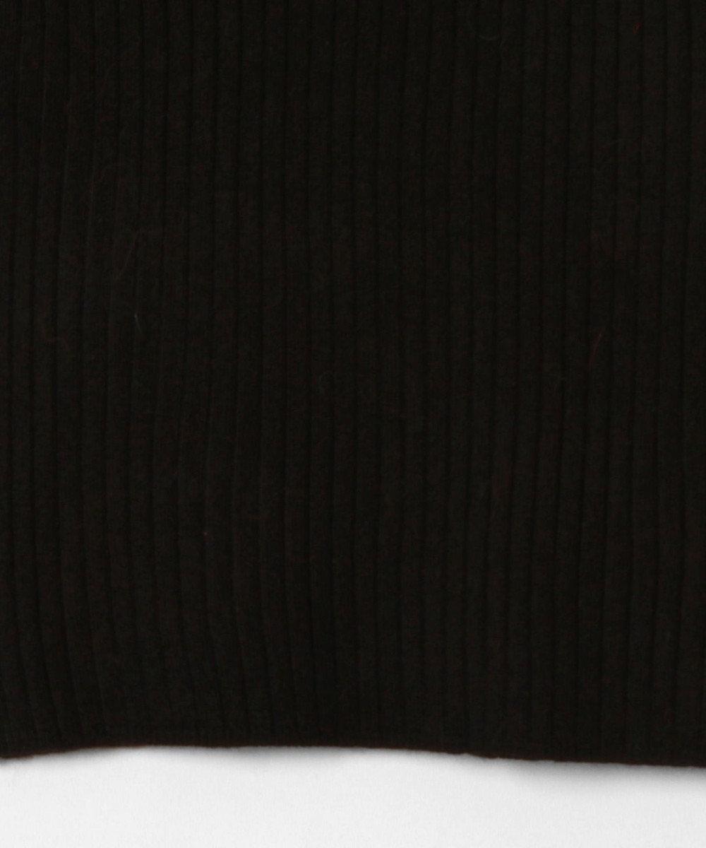 GRACE CONTINENTAL イレギュラーネックニットトップ ブラック