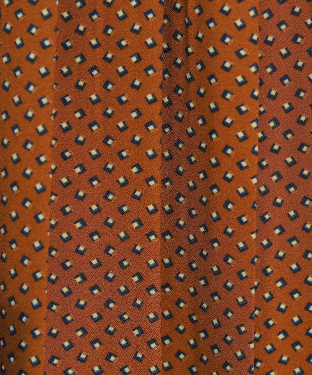 Tiaclasse 【洗える】上品レトロ柄プリーツワンピース