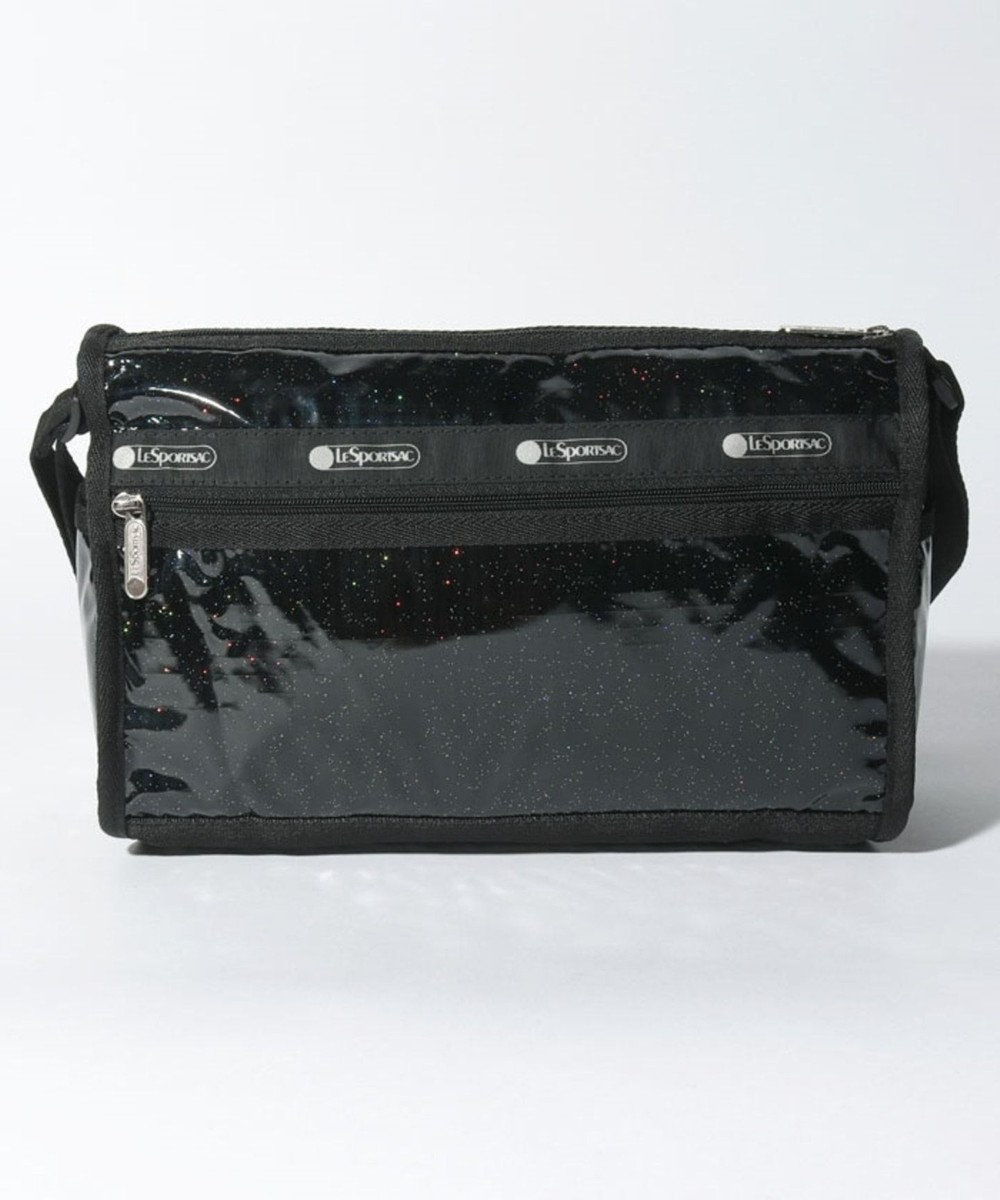 LeSportsac DELUXE SHOULDER SATCHEL/ブラックグリッター ブラックグリッター