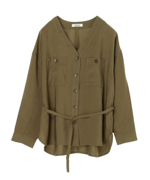 Green Parks ・furry rate Vネックシャツジャケット