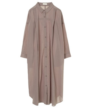 earth music&ecology バックギャザーワンピース Gray Beige
