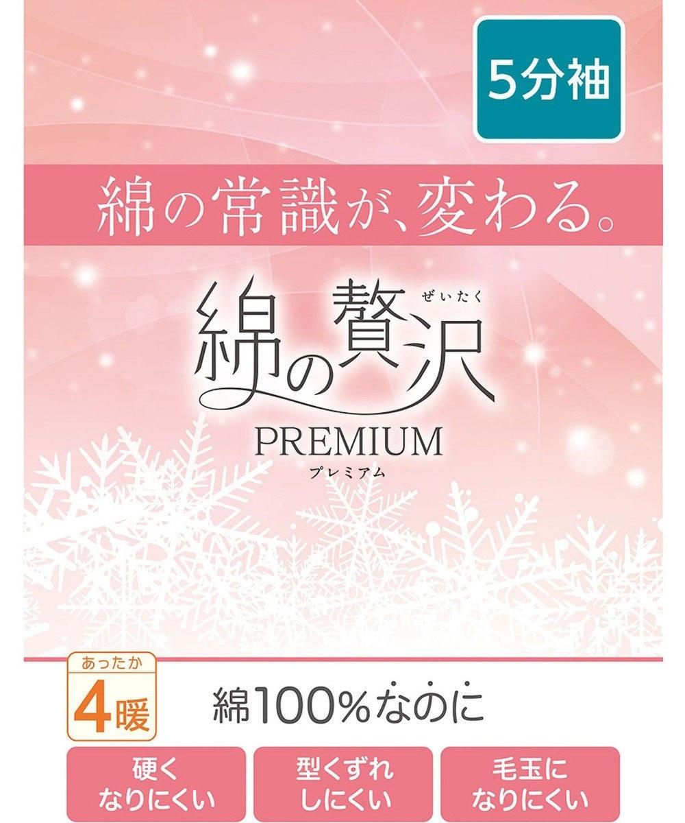 Wing インナー 5分袖【綿の贅沢 PREMIUM】ウイング/ワコール EL4477 ベージュ