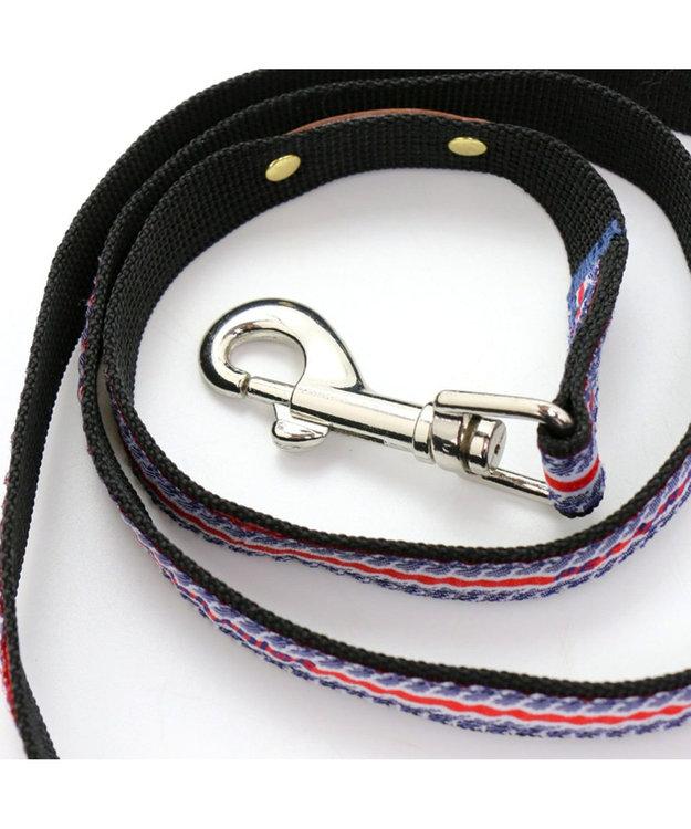 PET PARADISE ペットパラダイス ロゴ ボーダー リード 青 4S~3S〔小型犬〕