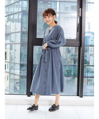 Green Parks ・ELENCARE DUE イロイロボタンワンピース Beige