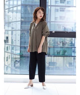 Green Parks リブニットロングパンツ Charcoal Gray