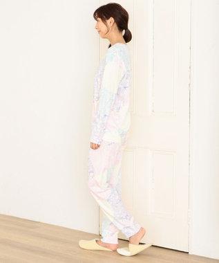 tsumori chisato SLEEP パジャマ ロング袖ロングパンツ 世界の仲間柄 /ワコール UDQ222 ピンク