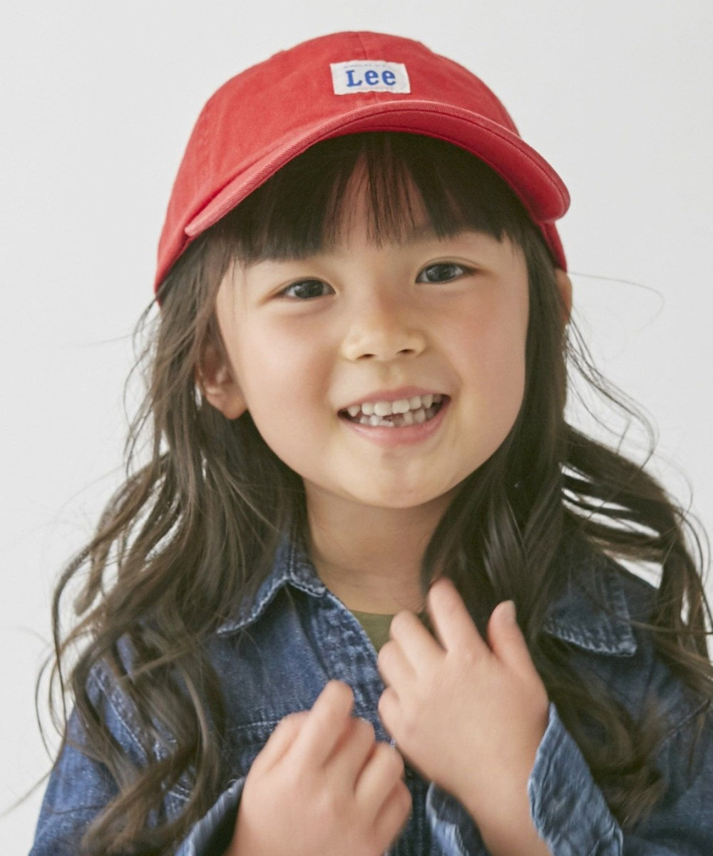 Hat Homes 【リー キッズ】 キッズ コットン ローキャップ RED