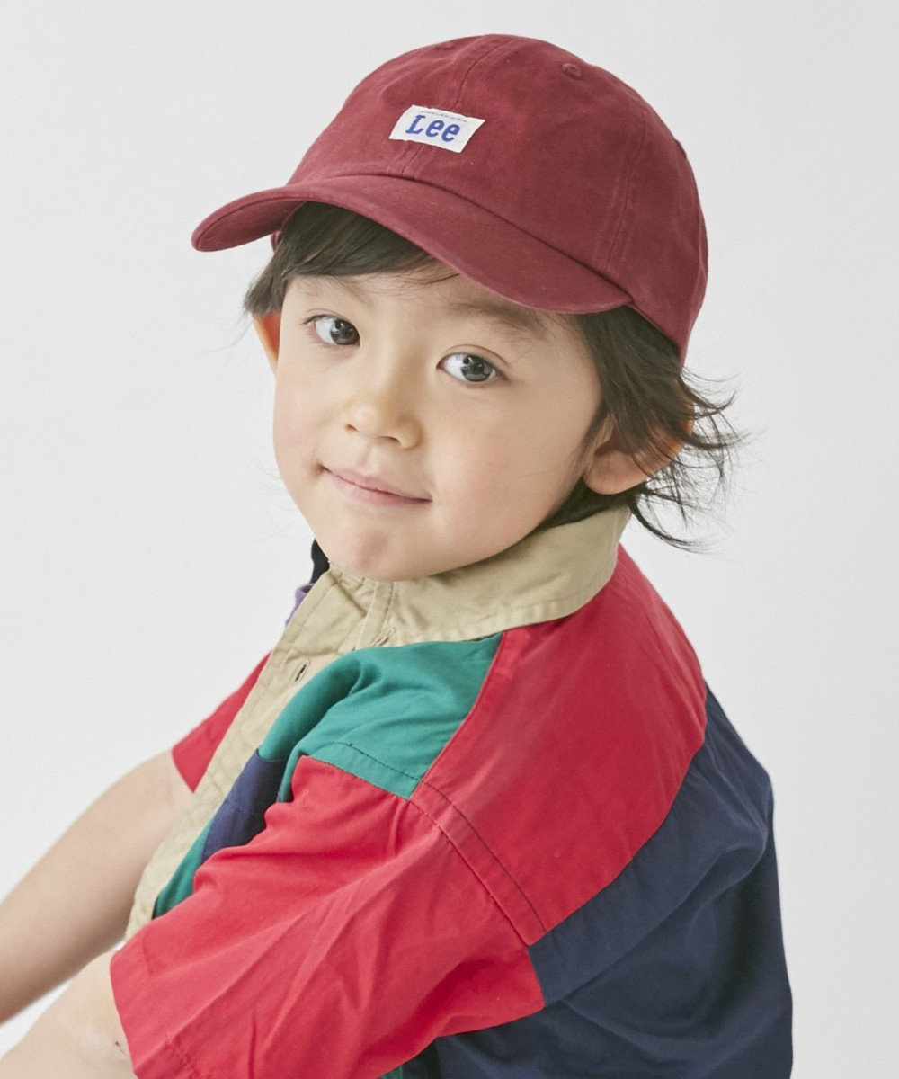 Hat Homes 【リー キッズ】 キッズ コットン ローキャップ DK RED