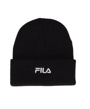 Hat Homes 【フィラ】 フィラロゴ ニット帽 BLACK