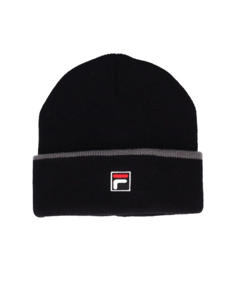 Hat Homes 【フィラ】 フィラエンブレムロゴ ニット帽 BLACK