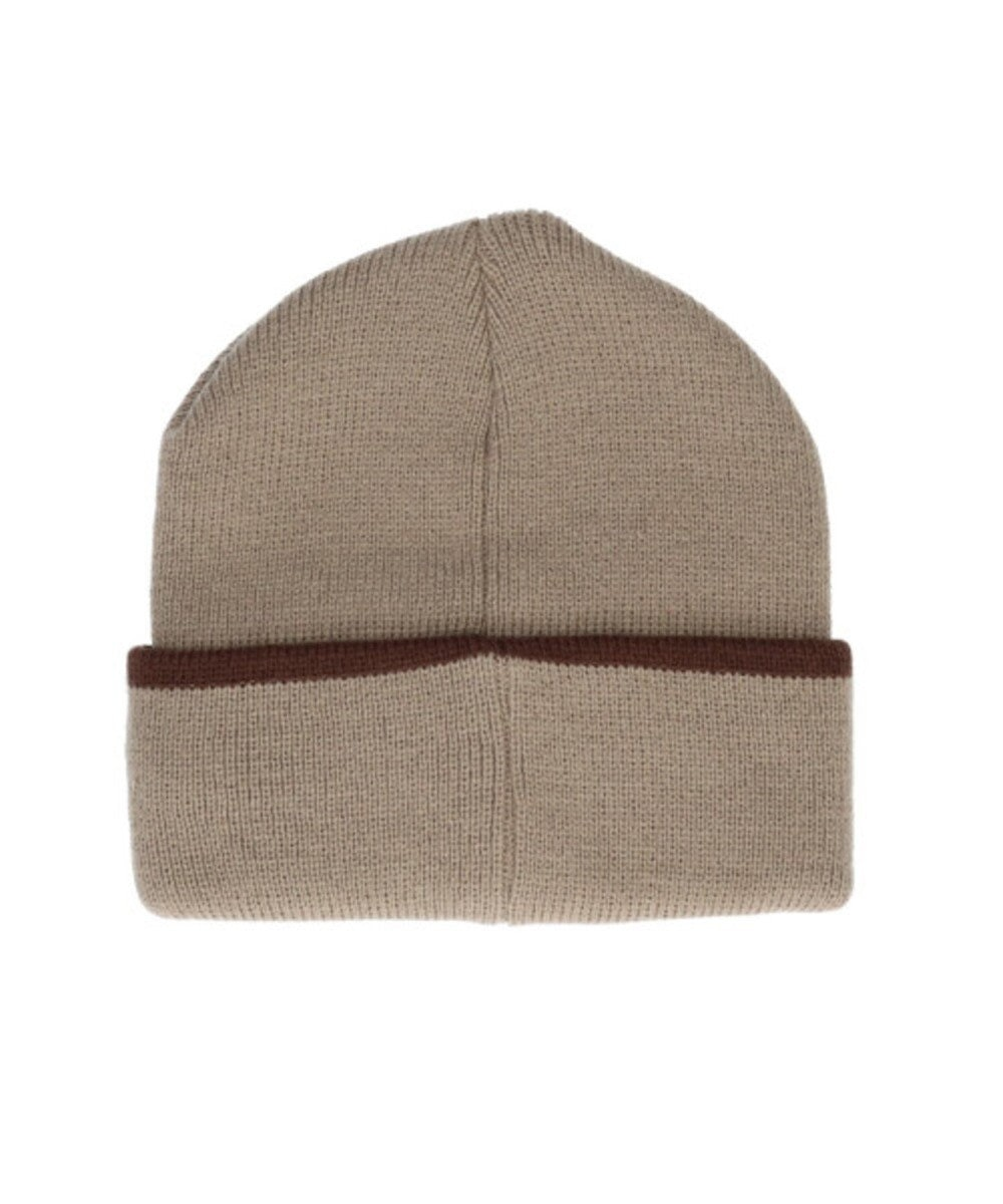 Hat Homes 【フィラ】 フィラエンブレムロゴ ニット帽 BEIGE