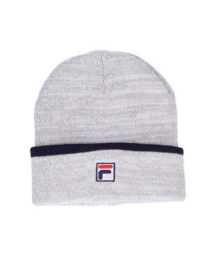 Hat Homes 【フィラ】 フィラエンブレムロゴ ニット帽 GRAY