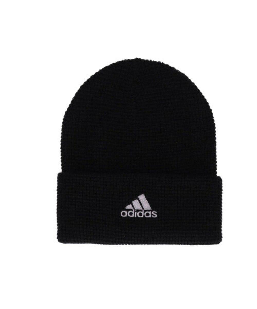 Hat Homes 【アディダス】 アディダスロゴ ワッフルニット帽 BLACK