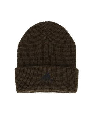Hat Homes 【アディダス】 アディダスロゴ ワッフルニット帽 BROWN