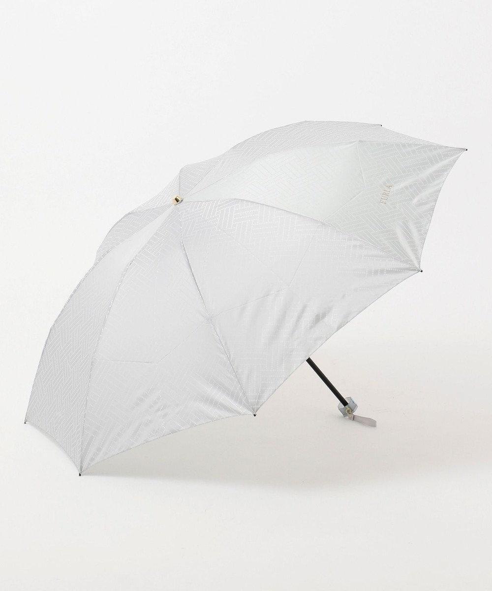 MOONBAT FURLA 折りたたみ傘 ジャカード グレー