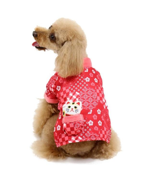 PET PARADISE ペットパラダイス 和み はんてん 赤〔小型犬〕 赤