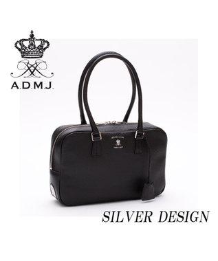 A.D.M.J. 牛革 ボストンバッグ 28cm BLACK