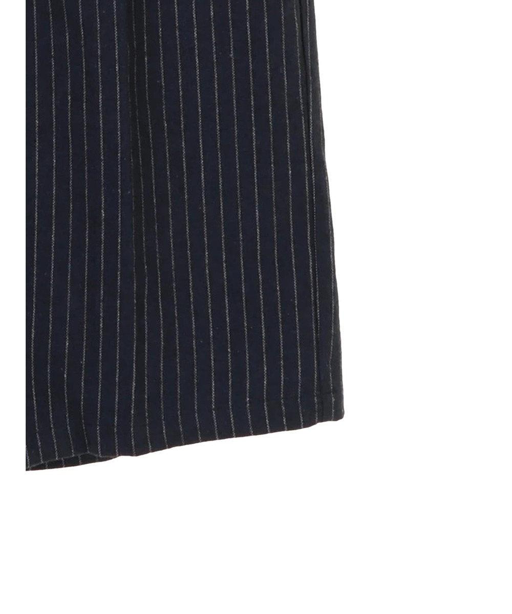 koe 起毛ストライプストレートワイドパンツ Stripe Navy